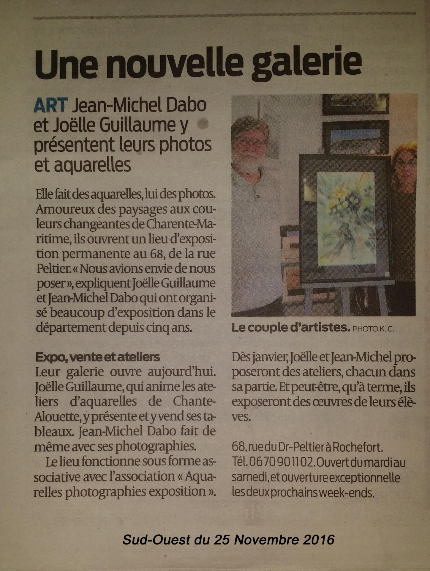 Sud ouest 25 11 2016